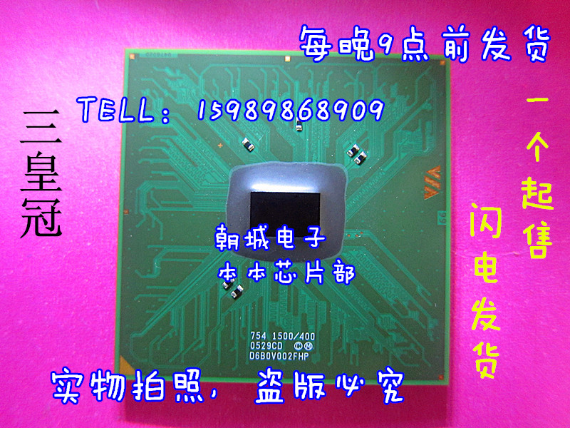 VIA 754 1500/400 0529CD 06B0V002FHP CPU